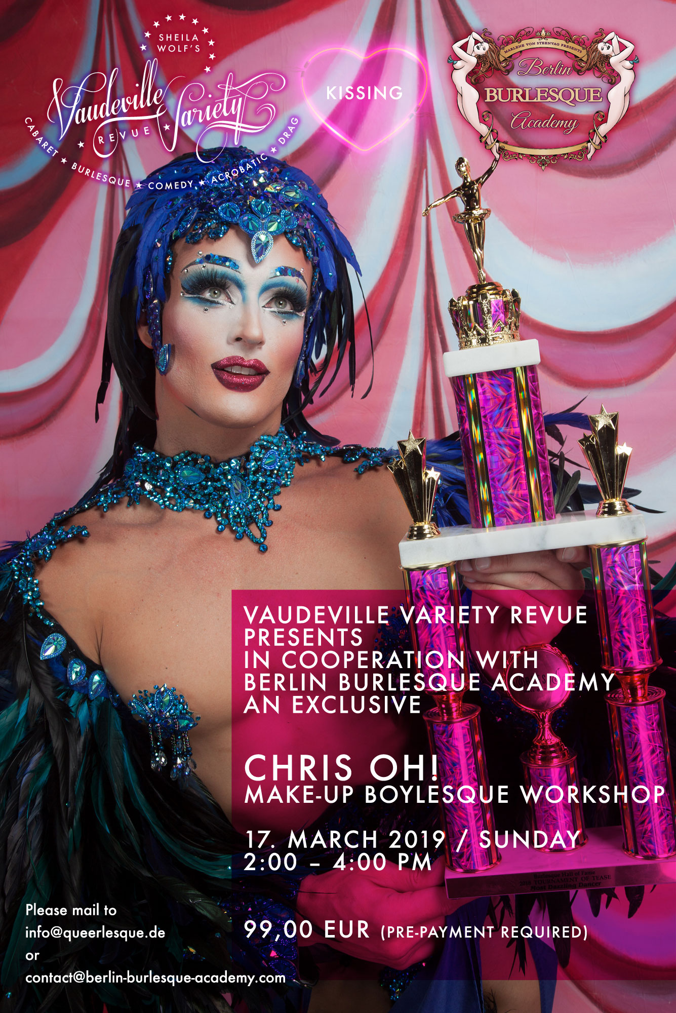 Berlin Boylesque Workshop mit CHRIS OH!