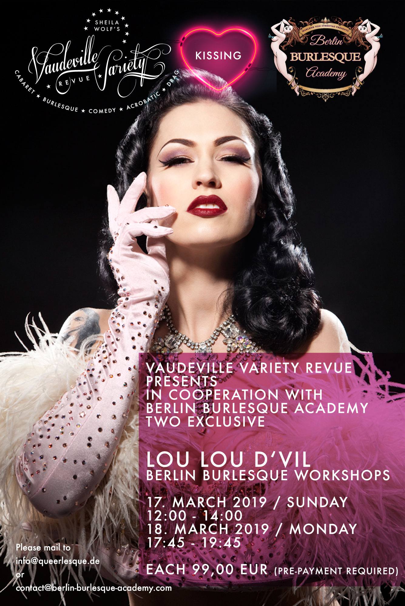 Berlin Burlesque Workshop mit LOU LOU D'VIL